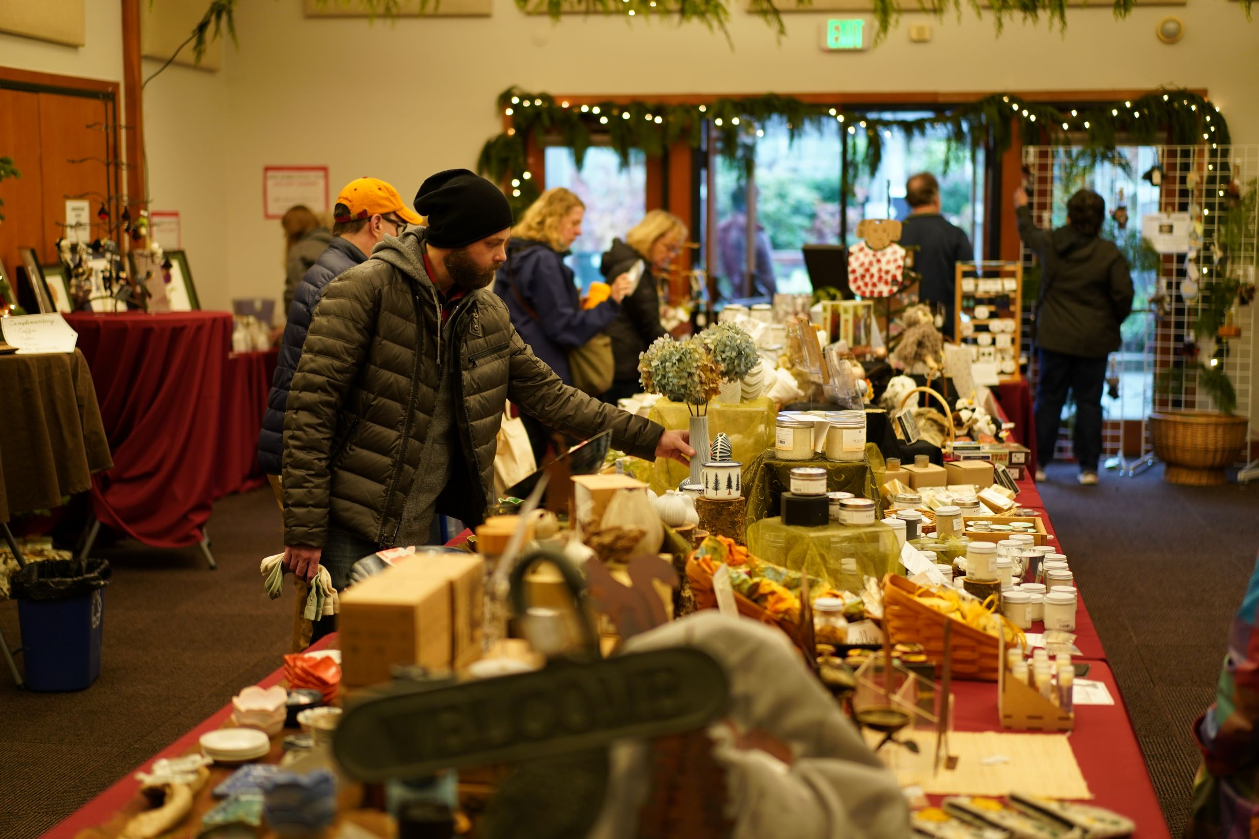 Wisteria Hall filled with botanical and animal themed gifts at 2019 Holiday Sale